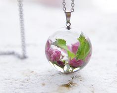 Cherry blossoms Necklace Blooming Sakura inspired by UralNature