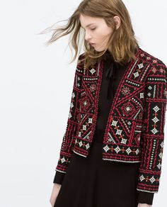 Image 4 of ETHNIC EMBROIDERED JACKET from Zara