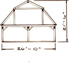Gambrel Roof Cabin 16x24 Weekend Retreat Pinterest
