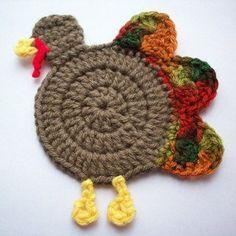 Gobble Coaster free crochet pattern - 10 Free Crochet Turkey Patterns
