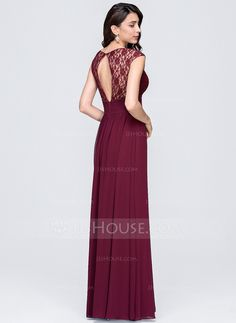 A-Line/Princess Sweetheart Floor-Length Chiffon Evening Dress With Ruffle (017074676)