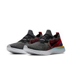 Nike Epic React Flyknit 2 Men's Running Shoe - Black Black Running Shoes, Running Shoes For Men, Kids Running, Can Run, Fresh Kicks, Nike Shoes, How To Look Better, Contours, Take That