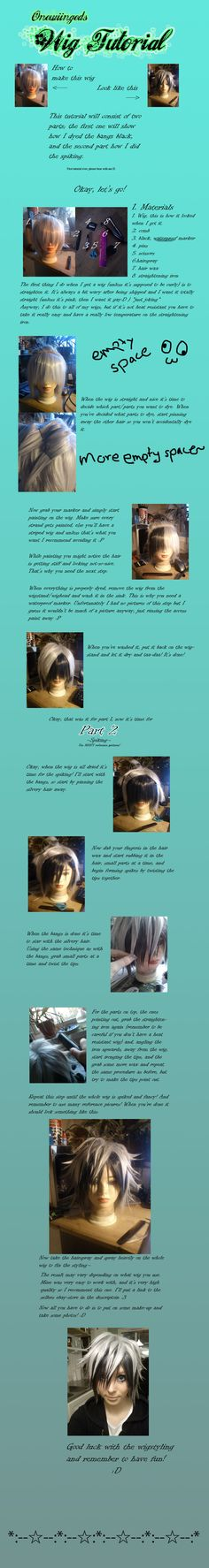 Tutorial: Wig dyeing and spiking by ~Onewiinged