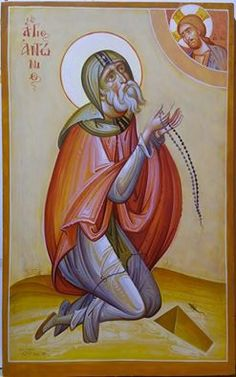 Saint Anthony the Great - ___ January 17 Religious Icons, Religious Art, Anthony The Great, Saint Antony, Church Icon, Saints And Sinners, Best Icons, Byzantine Icons, Art Icon