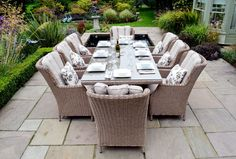 saigon heritage weave 8 seat rectangular high back dining set - Google Search