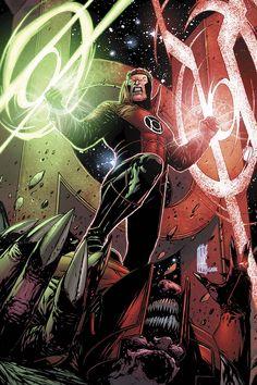 Red Lantern Guy Gardner?? (Cover to Red Lanterns #21 by Alessandro Vitti)