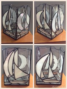 Stained Glass Sailing Boats - Large candle box
