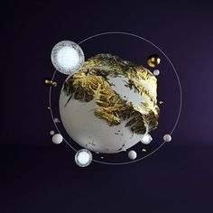 #cold #gold #giant #cinema #4d #c4d #cinema4d #octane #render #octanerender #photoshop #daily #3d #gfx #graphics #graphic #design #abstract #art #geometric #realistic #organic #space #planet #solar #system