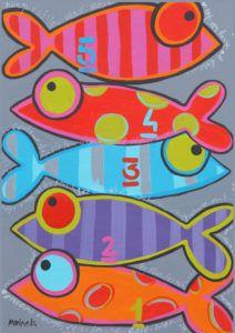 Arte Zebra, Stitch Games, Clay Fish, Fish Crafts, Garage Art, Arte Popular, Colorful Fish, Autumn Art, Fish Art