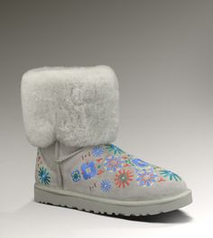 UGG Embroidery Mid Women's Seal Multi Boots