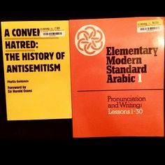 GLORIOUS Finds Finally, a comprehensive Arabic instruction book in English. Missing the Audio disc, but i might be able to track it down.  #AConvenientHatred #PhyllisGoldstein #ElementaryModernStandardArabic #Cambridge #Antisemitism #Jews #Arabs #Christians #Muslims #Holocaust #Prejudice #Injustice #Perception #Bias #Philosophy #Linguistics #Epistemology #Ontology #Theology #History #Politics #Classic #Literature #Books #MakeYourOwnHistory #Motivation #Everyday #Discipline…