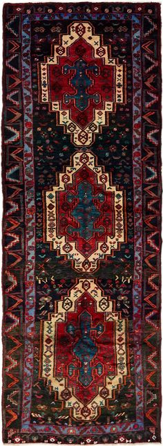 Black 6 x 2 Hamedan Persian Runner Rug , – iranian carpet living room Persian Rug Runners, Rug Runner, Stair Runner Carpet, Magic Carpet, Rugs On Carpet, Scandinavian Rug, Rugs, Oriental Persian Rugs, Rustic Rugs