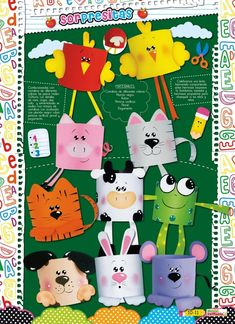Retoñitos :: Revista para Educadores y Padres K Crafts, Paper Plate Crafts, Paper Crafts For Kids, Crafts For Kids To Make, Foam Crafts, Easy Crafts, Arts And Crafts, Animal Crafts For Kids, Animals For Kids