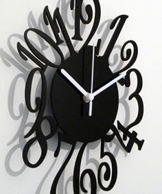 The Number Clock. This is an unusual, contemporary designer wall clock that will enhance any room, whether at home or in the office. Although the clock keeps perfect time, the design is such that it is meant more for decorative purposes than accurate time-telling. The Number Clock itself is laser cut from 3mm acrylic and is available in a choice of four colours—black, white, red and blue. £ 35.00 ( 29.17 +VAT) + P