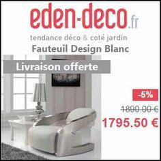 #missbonreduction; 5% de remise sur le Fauteuil Design Blanc chez Eden Deco. http://www.miss-bon-reduction.fr//details-bon-reduction-Eden-Deco-i852556-c1840260.html