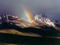 #nature #mountains #rainbow
