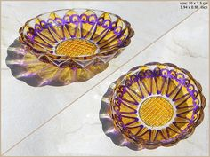 RichanaDragon. ||| Glass plate (bowl candle holder) with hot yellow and purple Indian pattern. Hand painted stained glass. ||| ○ SIZE: 10 х 2.5 cm / 3.94 x 0.98 inch ○ NET WEIGHT: 100 g / 0.22 lb