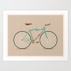 Buy Bicycle Art Print by Daniel Mackey. Worldwide shipping available at Society6.com. Just one of millions of high quality products available.