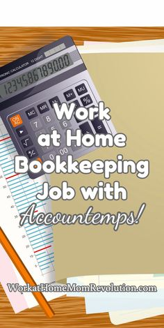 Work at Home Bookkeeping Job with Accountemps! Accountemps is seeking a work at home bookkeeper in Arkansas (possibly elsewhere in the U.S.) This is a part-time temp to full-time work from home position. The company has an excellent reputation and offers many remote opportunities!