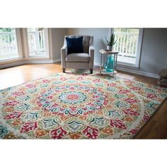 Mohawk Home Strata Jerada Multicolor Area Rug (5' x 8') | Overstock.com Shopping - The Best Deals on 5x8 - 6x9 Rugs #AreaRugs