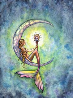 Mermaid Moon | Molly Harrison This would be a pretty tattoo.!!!