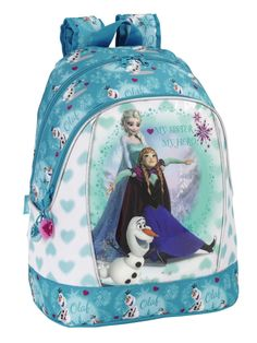 Frozen Extra Large Backpack. Ice Skating Collection. This backpack is big enough to fit everything your chill will need for a weekend away form home :)