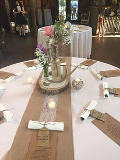i like the centerpieces and simple flowers.