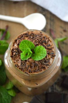 Mint Chocolate Chia Seed Pudding is a healthy dessert that you can even have for breakfast. It's gluten free, dairy free and naturally sweetened. It's so creamy and full of chocolate and mint flavor that you'd never know it's good for you!