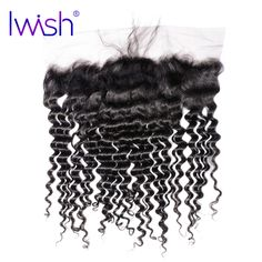 Iwish Malaysian Curly Hair Lace Frontal Closure 13x4'' From Ear to Ear 100% Human Remy Hair Frontal with Baby Hair Natural Color