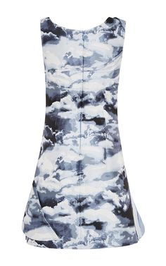 Clouds Jacquard A-Line Dress by Carolina Herrera for Preorder on Moda Operandi
