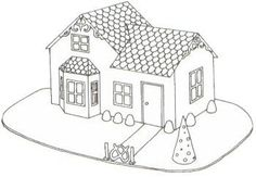 Gingerbread - Victorian Cottage Template Going to make this with Lifesaver windows and a flameless tea light inside to look like lights are on.