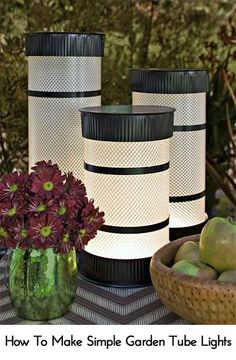 How To Make Simple Garden Tube Lights