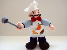Amigurumi Chef   Would love to make this for N!