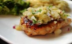 Maple-Glazed Grilled Chicken with Pineapple Salsa