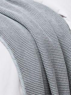 Cotton Waffle Weave Blanket - Waffle Blanket Set from Boll & Branch Waffle Blanket, Waffle Knit, Textured Bedding, Blue Waffle, Good Sleep, Duvet Sets, Knitted Blankets, Linen Bedding