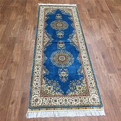 Camel Carpet Hand Made Blue Silk Rug Runners 2.5'x7' Came... http://www.amazon.com/dp/B01DBK90L0/ref=cm_sw_r_pi_dp_Xacixb1VVFHGZ