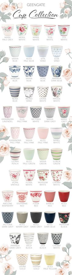 Hardly any cup is as popular as the GreenGate Latte Cup. The cult mug is now available in many different colors and patterns. In any case, the most popular are the latte cups with.