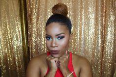 Makeup for women of color #mattelips #softmakeup #brownlipstick
