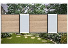 7,40 Meter Steckzaun Sichtschutz Zaun WPC Sand/Glas