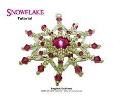 Tutorial Snowflake Pendant  beading pattern di FucsiaStyle su Etsy
