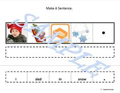 Make A Sentence About Snow for Autism: Inspired by Evan Autism Resources.