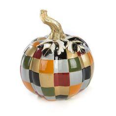 Discover the MacKenzie-Childs Patchwork Pumpkin - Mini at Amara Glass Pumpkins, Mini Pumpkins, Painted Pumpkins, Fall Pumpkins, Velvet Pumpkins, Thanksgiving Decorations, Halloween Decorations, Holiday Decor, Pumpkin Decorating