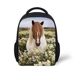 HUGSIDEA Leaisure Small Shoulder Bag for Kid Horse printing Backpack for Travel School -- Check out the image by visiting the link.