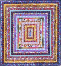Trip Around the World quilt by Kaffe Fassett. in: Blanket Statements: New Quilts by KAFFE FASSETT. San Jose Museum of Quilts and Textiles, March-June 2016.
