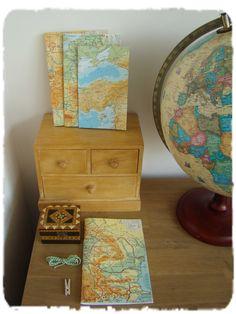 Schriften van atlaspapier. Mogelijk van vele landen / regio's mail voor meer informatie: info@schrijf-boek-winkel.nl
