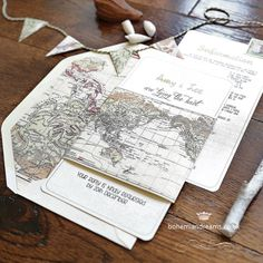 Tying the knot wedding invitation www.bohemiandreams.co.uk Tie The Knot Wedding, Our Wedding, Destination Wedding, Shabby Chic Wedding Invitations, Wedding Stationery, Safari, Vintage Travel Wedding, Wedding Ideas Board, Big Day