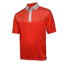 Ogio Grille Golf Shirt Fiesta Chrome