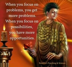 Image result for when you focus on problems buddha