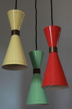 Red Retro Kitchen : Funky mid century modern pendant lighting