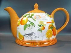 Iglu Teekanne scottish Orange Jameson & Tailor Keramik Kanne
